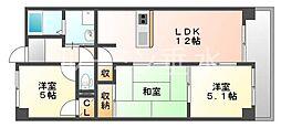 フォーラム城ヶ岡弐番館[3階]の間取り