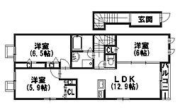 DANRAN[2階]の間取り