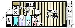 フレッサ岸和田[415号室]の間取り