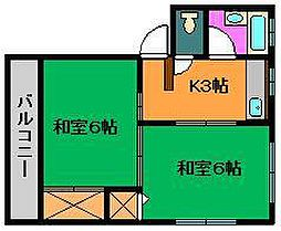 小川コーポ3[2階]の間取り