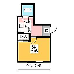 マリエ共和[4階]の間取り