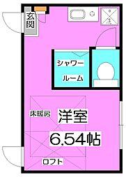 西武池袋線 練馬高野台駅 徒歩10分の賃貸アパート 1階ワンルームの間取り