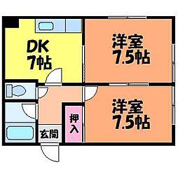 愛媛県松山市湊町1丁目の賃貸マンションの間取り