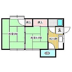 細田アパート[2階]の間取り