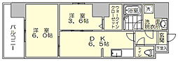 モダンパラッツォ博多駅南2[3階]の間取り