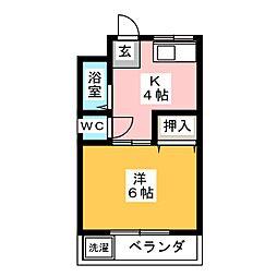 コーポさくまII[1階]の間取り