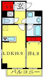 グランシャリオ西新井 1階1LDKの間取り
