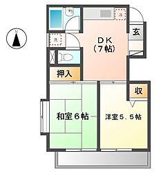 イトウマンション 2a[2階]の間取り