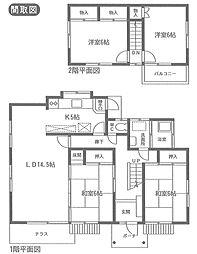 [一戸建] 静岡県三島市富士見台 の賃貸【/】の間取り