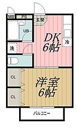 千葉県千葉市中央区港町の賃貸アパートの間取り