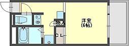 奈良県香芝市五位堂1丁目の賃貸マンションの間取り
