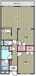 ニューセンチュリーマンション B棟[102号室]の間取り