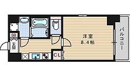 セオリー難波WEST[4階]の間取り