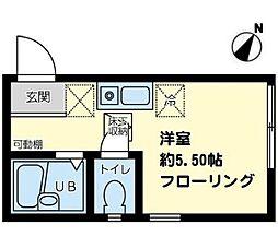 K-flat湘南[102号室]の間取り