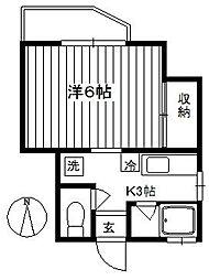 サンロイヤル西蒲田 bt[201kk号室]の間取り