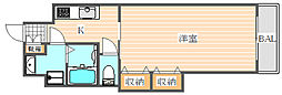 ロイヤル博多駅前[7階]の間取り