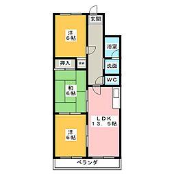 ハイドリーム宮本[4階]の間取り