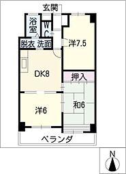 牧の原ビル[2階]の間取り
