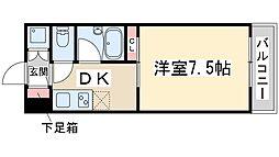 FIVE TWO 5階1DKの間取り