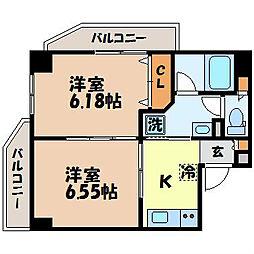 ウィング弐号館[12階]の間取り