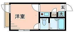 シャンテ西六郷[2階]の間取り