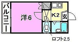 アロッジオ桜ヶ丘[203号室]の間取り