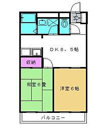アルス松戸[1階]の間取り
