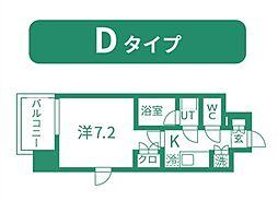 仙台市営南北線 北四番丁駅 徒歩11分の賃貸マンション 8階1Kの間取り