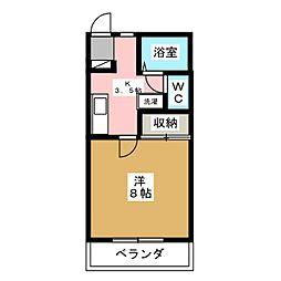 オーレ東仙台II[2階]の間取り