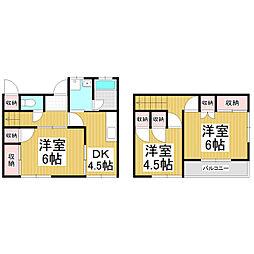 [テラスハウス] 長野県松本市並柳 の賃貸【長野県 / 松本市】の間取り
