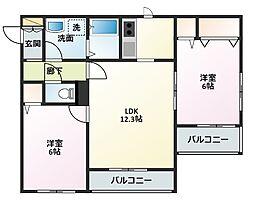 プロミネンス東戸塚[2階]の間取り