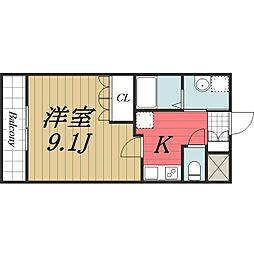JR成田線 佐原駅 徒歩10分の賃貸マンション 1階1Kの間取り