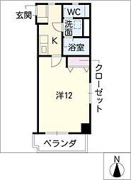 愛知県豊田市小坂本町1丁目の賃貸マンションの間取り