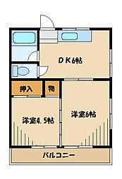 都ハウス[1階]の間取り
