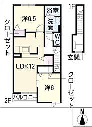 ベル・コリーヌB[2階]の間取り