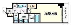アルグラッド梅田WEST 11階1Kの間取り