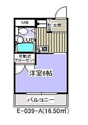 南行徳ハイツ[4階]の間取り