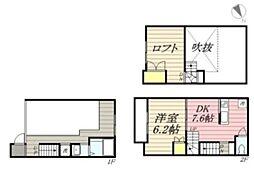 [テラスハウス] 神奈川県茅ヶ崎市菱沼海岸 の賃貸【神奈川県 / 茅ヶ崎市】の間取り