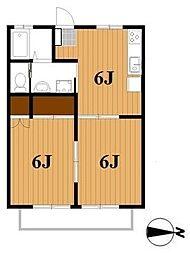 ドミールアカシア[2階]の間取り