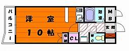 Kステーション八田[2階]の間取り
