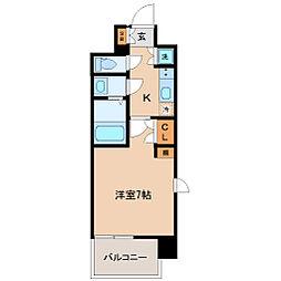仙台市営南北線 北四番丁駅 徒歩10分の賃貸マンション 7階1Kの間取り