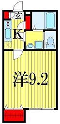 千葉県船橋市三山4の賃貸アパートの間取り