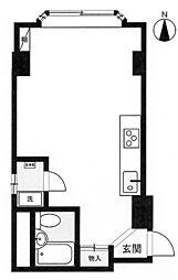 JR東海道本線 熱海駅 徒歩30分の賃貸マンション 2階ワンルームの間取り