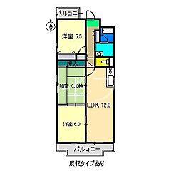 レジデンスKERANO[7階]の間取り