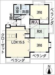 ドリームステージ21[2階]の間取り