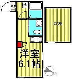 ブルーオーシャン南太田[1階]の間取り