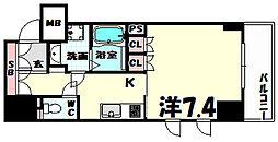 プラネソシエ神戸元町[9階]の間取り