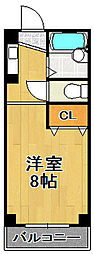 グランソシエ大正3[4階]の間取り