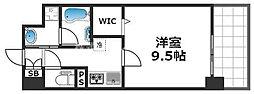 グランパシフィック花園Luxe 6階1Kの間取り
