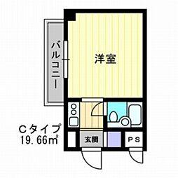 アルファ富田町[5階]の間取り
